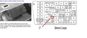 2002 cadillac deville fuse box diagram cadillac deville questions which master fuse under back seat 1 answer