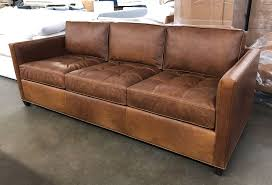 arizona leather sofa looks incredible in italian berkshire chestnut leather the tufted