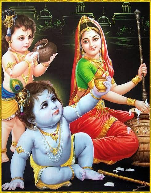 "Image result for Yashoda with krishna balram"""