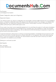Resignation Due To Pregnancy On Ccurriculum Vitae Copy Letter Format ...