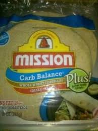 mission foods carb balance whole wheat tortillas fajita size burrito size