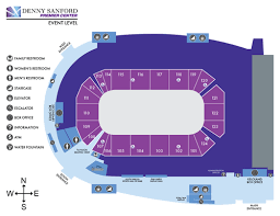 Denny Sanford Premier Center Seating Chart Concourse Maps