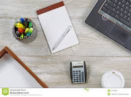 Office desk top Curved Home Office Desktop Dreamstimecom Home Office Desktop Stock Photo Image Of View Calculator 47756852