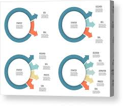 Business Infographics Organization Chart With 2 3 4 5 Options Arrows Vector Template Acrylic Print