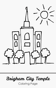 Small Picture Free Printable Brigham City Temple Coloring Page Bright Apple