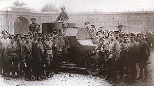 Октябрьская революция года Хроника событий Справка  Контрреволюционный бронеавтомобиль с юнкерами