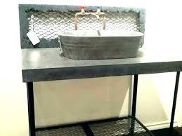 tin bathroom sink tin bucket bathroom sink galvanized wash tub sinks for large metal with