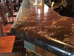 thick seamless bar top concrete countertops global surface solutions kelowna bc