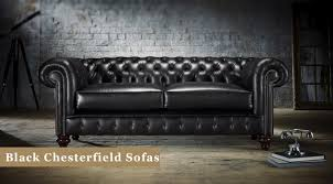 <b>Black Chesterfield Sofas</b>: Leather & Fabric | Timeless Chesterfields