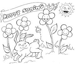 Free Printable Spring Coloring Pages 12 Best Place Images On