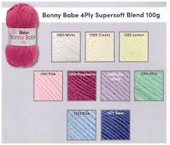 0 Robin Bonny Babe 4 Ply Knitting Yarn 10 X 100g Balls Full Colour Range
