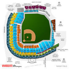 Target Field Baseball Seating Chart Target Field Concert Tickets And Seating View Vivid Seats
