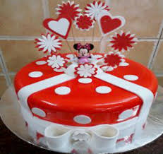 Red Gel Mini Cake Mahalaxmibakers