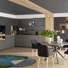 Cuisine Moderne Et Design Ouverte Sur Salon Ambiance Médiane Mobalpa