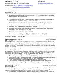 Resume Templates Social Media Sample Unusual Skills For Fascinating