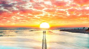 Image result for couple on the beach at sunset