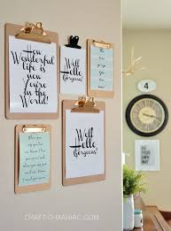 diy office decorations. 1. Find And Print Out Cool Typography, Hang It Up With Clipboards Diy Office Decorations U