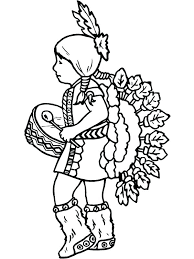 Native American Coloring Pages 488websitedesigncom