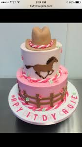 Cowgirl Cake Designs One Tiered With Horse On Top Cowgirl Birthday Cake Idea
