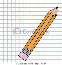 Pencil With Graph Paper