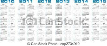 Calendar 2013 Through 2015 Calendar For 2010 Through 2015