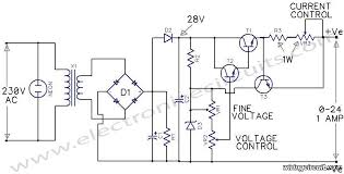 variable power supply v circuit wiring diagrams variable power supply 0 24v circuit