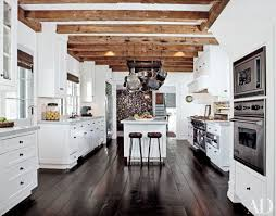 Black N White Kitchens Glossy Fireplace Design Idea With Gray Wall White Accent Black