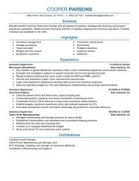 Resume for supervisor position