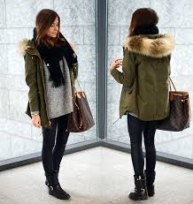 6 cozy scarf styling ideas with faur fur trimmed hoo coat 2