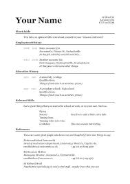 A Simple Resume Example A Simple Resume Sample Simple Form Simple