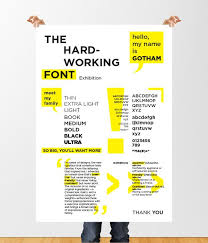 Create An Informative Poster For An Exhibition Of The Font