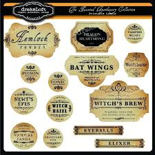 The Haunted Apothecary Labels E Liquid Label Template Free Potion