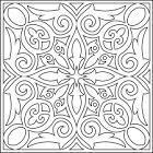 Орнамент в квадрате раскраска
