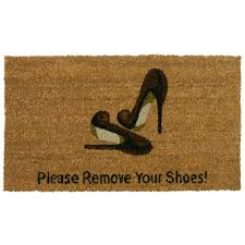 Shoe Mats Amazoncom Rubber Cal Welcome Please Remove Your Shoes