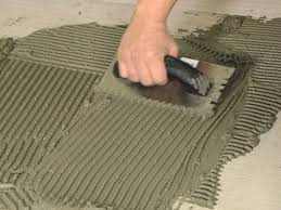 spreading mortar