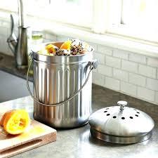 compost bin kitchen compost bin brushed stainless steel compost pail kitchen compost bin
