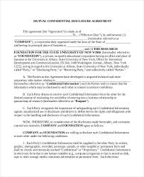 confidentiality agreement template confidential disclosure agreement template