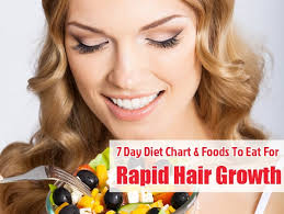 Diet Chart For Hair Regrowth 7 Day Diet Chart Foods To Eat For Rapid Hair Growth