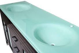 integrated sink vanity top inch bathroom vanity espresso finish glass top in aqua green with drop