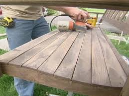 How To Build A Porch Swing How To Refinish A Porch Swing How Tos Diy