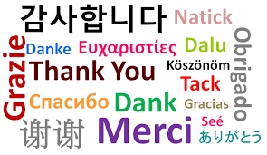 Image result for thank you in different languages clipart