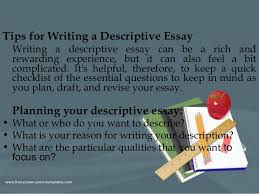 main types of writing  5 tips for writing a descriptive