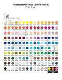 150 Prismacolor Pencils Chart Colored Pencil Chart Prismacolor Premier Colored Pencils