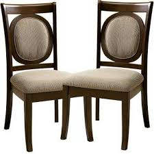evelyn walnut dining chair set of 2