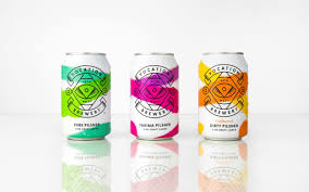 Drink Can Designs 45 Bold Colored Packaging Designs Craft Ale Beer Label