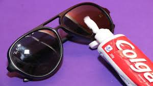 how to remove scratches on your sunglasses