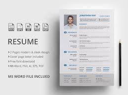 Modern Sleek Resume Templates Resume Template By Mahmud Saeef On Dribbble