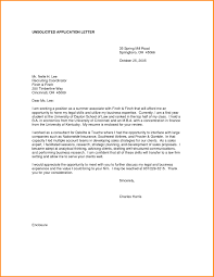 Unsolicited Business Letter The Letter Sample