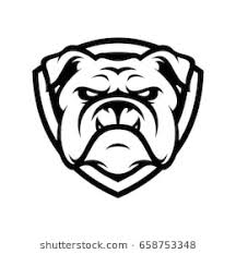 bulldog clipart black and white.  White Bulldog Wild Animal Head Mascot Logo Illustration Vector In Clipart Black And White P