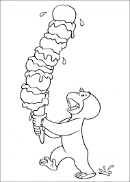 Coloring Pages Happy Birthdayg Pages For Kids Curious George